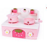 正品mothergarden草莓3岁以下 迷你厨房厨具过家家玩具 其他木制