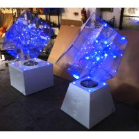 明狮点低出售仪式魔方大型典礼造型沙漏水晶字幕球