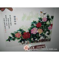 玖玖鱼艺术彩雕瓷砖背景墙UV打印机 3D陶瓷背景墙装饰画UV彩印机