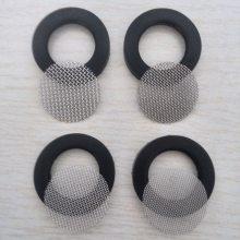 YF0602花洒软管4分硅胶包边不锈钢过滤网垫片