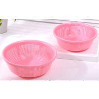 厨房用品 透明塑料洗米箩 淘米箩 滴水盘果蔬筛 厂家直销