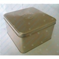 金属饼干铁盒包装厂|高档马口铁正方形双盖饼罐包装盒|蔓越莓撬盖饼干铁盒