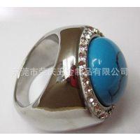 不锈钢虎眼石戒指、绿松石戒指、宝石戒指