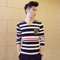 供应男式t恤男装 韩版秋装打底衫长袖t恤 男式 诚招代理一件代发