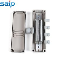 供应80*250*85 一进四出防水套装接线盒 20位UK端子接线盒 定制