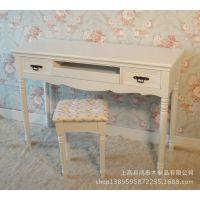 简约纯白色田园韩式家具 台式 电脑桌 书桌