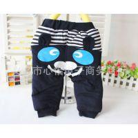 2014新款儿童棉裤、韩版可爱熊保暖裤子、夹棉两样档冬款裤3117