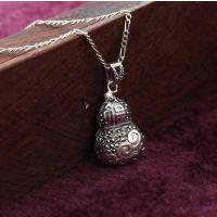 泰银复古吊坠 宝葫芦 银镶马克赛 项饰一手货源 质量保证
