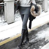 好质量现货秋冬装显瘦假两件打底裤裙包臀打底裙裤女士打底裤