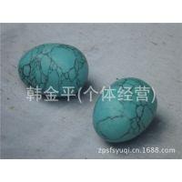 玉器批发天然绿松石鸡蛋手球健身球B05