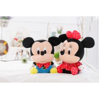 厂家直销迪士尼米奇米妮 米老鼠情侣公仔礼物 毛绒玩具 一件代发