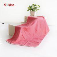 索佳 亲肤婴童抱毯 儿童毯 纯色小毛毯 婴儿毛毯制造  59*89cm