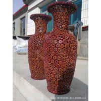 中国民间工艺品传统工艺核桃工艺品大花瓶 落地花瓶 古典怀旧
