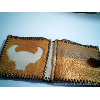 小额批发 时尚牛皮钱包 手工牛皮钱包 缝制男士钱包