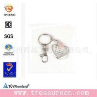 出口外贸金属钥匙扣 金属光泽心形可放照片钥匙扣钥匙链 锌合金