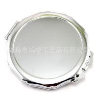 小镜子便捷 高档银色化妆镜镜胚,高品质双面镜子镜底