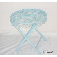 藤铁之乡 铁艺圆桌 创意梅花桌面 创意家具 桌子 铁艺家居 可定做