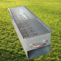 1米商用加厚冷轧板铁烧烤炉子家用户外便携木炭烧烤架箱批发