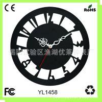 亚克力有机玻璃时钟 创意挂钟 无框钟表 客厅时钟 优莱钟表厂