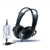 供应USB式电脑耳机 头戴式USB式电脑耳机 带麦克风USB式电脑耳机