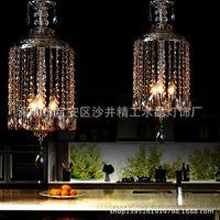 创意水晶鸟笼灯 欧式餐厅吊灯 门厅过道灯 水晶吊灯 玄关灯饰灯具