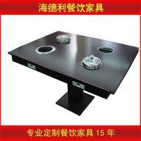 厂家直销 碳化木餐桌椅 自助餐厅烧烤桌子 石锅鱼桌椅 火锅桌批发