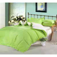 床上用品家纺用品素色双拼四件套 家纺 婚庆床上用品 活性被套