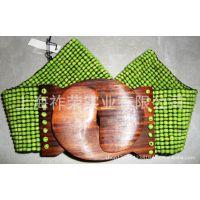 [厂家直销]手工编织腰饰 串珠腰带 珠珠弹性腰带 米珠松紧腰带