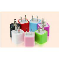 多功能彩色USB充电器插头 mini苹果手机充电器插头 usb电源插头