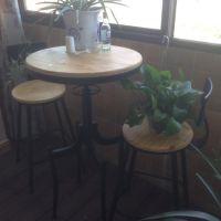 欧式铁艺创意咖啡厅餐桌椅 实木餐厅桌椅 休闲办公电脑桌创意茶几