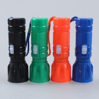 2013新款厂家直销可伸缩调光塑料迷你强力聚光小手电电子直筒灯