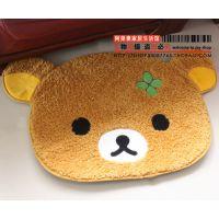 San-X轻松小熊Rilakkuma绒面居家地垫 门厅垫 坐垫游戏垫