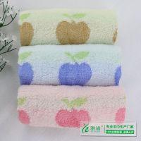 【茗雅渲毛巾】竹纤维苹果童巾25*50cm 创意礼品毛巾 天然竹纤维