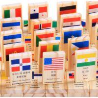 早教学习认识国旗多米诺骨牌实木儿童积木1-2-3-4岁宝宝益智玩具