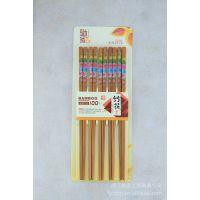 驰家天然竹筷 家用筷子 礼品筷子高档印花筷 厨房用具 CJ1088