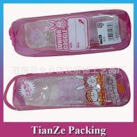 【厂家订制】透明pvc笔袋  环保化妆品包装袋子 拉链手提袋