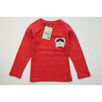 WDW外贸童装批发2014秋 新款韩版小熊男童童打底衫T恤 4色
