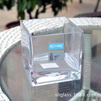 供应喜碧正方形水培植物玻璃器皿  透明多克方缸 小鱼玻璃缸