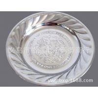 不锈钢无磁圆盘 镜面抛加深菜盘 加厚果盘 蒸盘 厨房餐厅用品