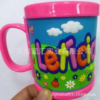 东莞工厂专业定做pvc马克杯 软胶滴胶塑料杯 开业庆典马克杯