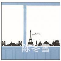 新款夜光墙贴三代环保可移贴 埃菲尔铁塔客厅沙发背景贴DM57002
