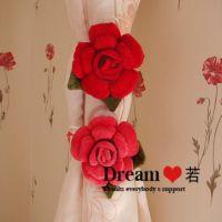 批发 大红玫瑰花日本忧伤兔 窗帘扣 窗帘配件 装饰品
