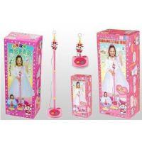 大号 宝丽 炫靓舞台未来歌星儿童麦克风玩具  立式话筒 可伸缩