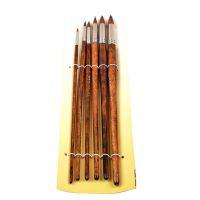 经销批发 美术180狼毫水彩笔 素描榭得堂圆头狼毫清漆木杆水粉笔