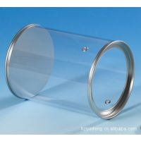 圆形透明PVC小圆罐 马口铁手提糖果铁罐 金属收纳铁罐 礼品罐