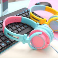 韩国创意糖果撞色可折叠头戴大耳机 个性电脑笔记本游戏女生耳机