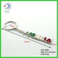意大利旅游纪念品 italia字母金属钥匙扣 建筑风景 合金钥匙扣