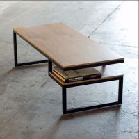 厂家直销复古铁艺实木茶几边几书桌置物架墙边桌方形小咖啡桌餐桌