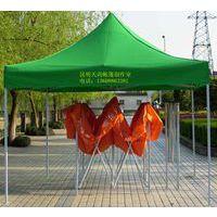 贵州领盾广告帐篷定做贵阳领盾折叠帐篷印刷logo材质黑精钢防风钢架定做