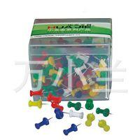 华杰盒装彩色工字钉 绘画图钉 100枚 H8805 软木板图钉
